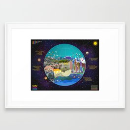 Map.  Framed Art Print