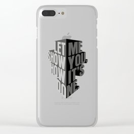 how it's done Clear iPhone Case
