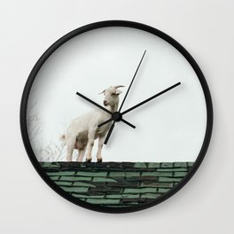 Katie on the Roof Wall Clock