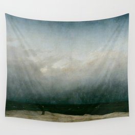 Caspar David Friedrich - The Monk by the Sea Wall Tapestry