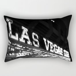 Vintage Las Vegas Sign - Black and White Photography Rectangular Pillow