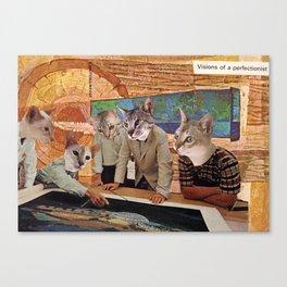 Cats Discuss a Project Canvas Print