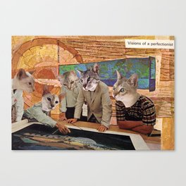 Cats Discuss a Project Canvas Print