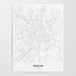 Moscow, Russia Minimalist Map Poster