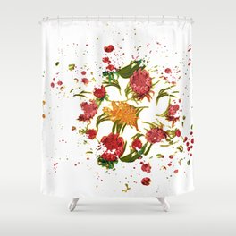 Beautiful Australian Native Floral Graphic Shower Curtain