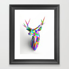 3D Stag Framed Art Print