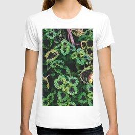 Green Leaf Flowers T-shirt
