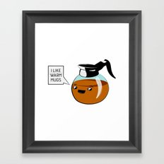 I like warm mugs Framed Art Print