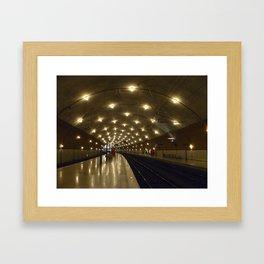 Monaco Train Station Framed Art Print