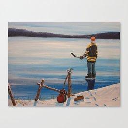 On Frozen Pond - Gord Donnie - Tragically Hip Canvas Print