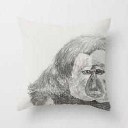 Ghostface Monkey Throw Pillow