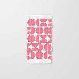 Mid Century Modern Geometric 04 Pink Hand & Bath Towel