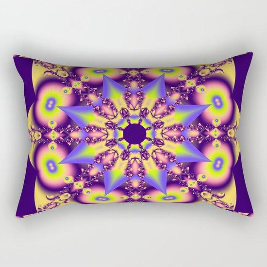Decorative double star kaleidoscope Rectangular Pillow