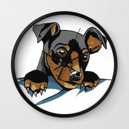 Dog Pocket Wall Clock
