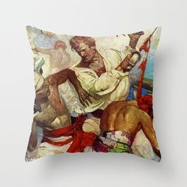 """Yankee Ships"" by Frank Earle Schoonover Throw Pillow"