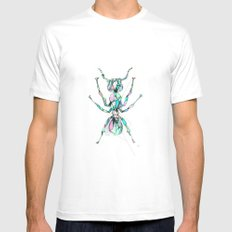 Ant White MEDIUM Mens Fitted Tee