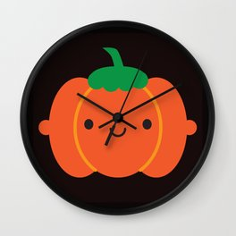Happy Halloween Pumpkin Wall Clock