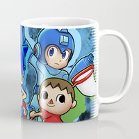 super smash bros Mugs featuring Super Smash Bros  by Blaze-chan