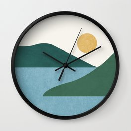 Sunny Lake - Abstract Landscape Wall Clock