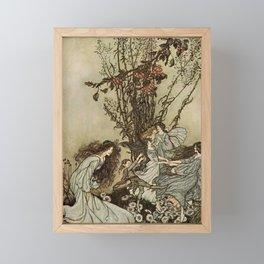"""Dancing With the Fairies"" by Arthur Rackham Framed Mini Art Print"