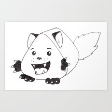 Fear Me!  For I am both cute and creepy! Art Print