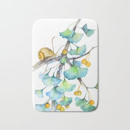 Ginkgo and A Snail Bath Mat