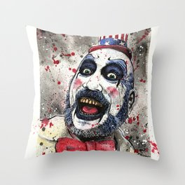Captain Spaulding -The Devil's Rejects Throw Pillow