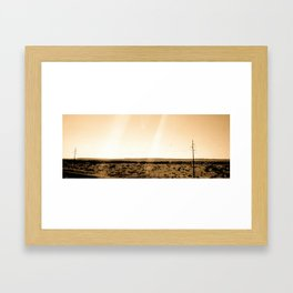 Desert Highway Framed Art Print