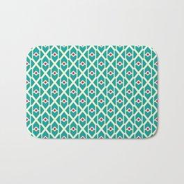 Geometrical abstract pattern Bath Mat