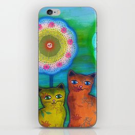 Cats and Trees iPhone Skin