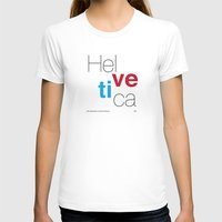helvetica T-shirts featuring Helvetica by Ana Guillén Fernández