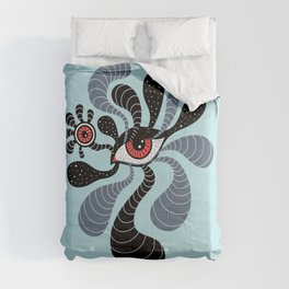 Abstract Surreal Double Red Eye Comforters