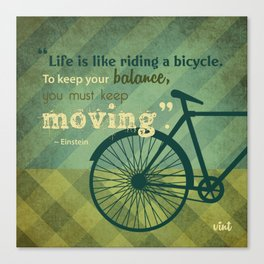 VINT GRAPHICS - Bicycle Quote Canvas Print
