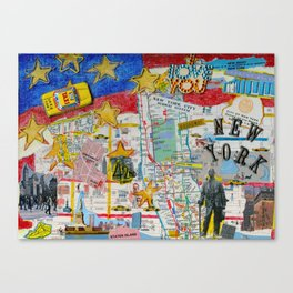 New York City Collage Canvas Print