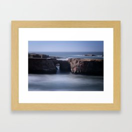Keyhole Rock Arches Point Arena California Framed Art Print