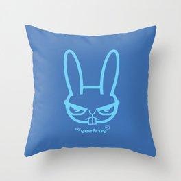 ANGRY RABBIT Throw Pillow