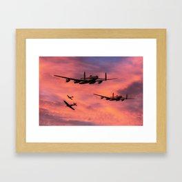 Bomber Escort - Dawn Raid Framed Art Print