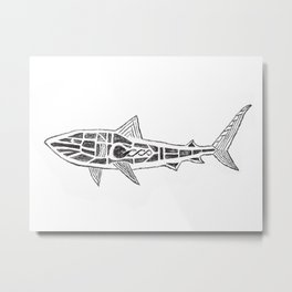 Shark Twist Metal Print