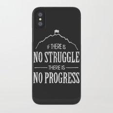 No Struggle, No Progress Slim Case iPhone X