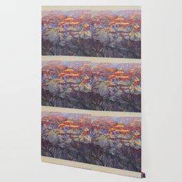 Grand Canyon Vintage Japanese Woodblock Print American Landscape Hiroshi Yoshida Wallpaper