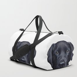 Labrador with white background Dog illustration original painting print Duffle Bag
