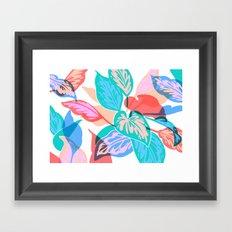 Colorful Pothos Plant Framed Art Print