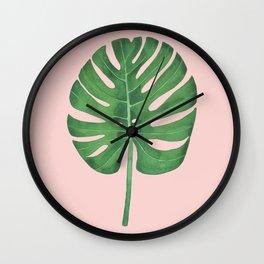 SWISS CHEESE PLANT 05, by Frank-Joseph Wall Clock