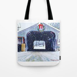 Vermont Covered Bridge Sugabush Tote Bag