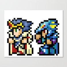 Final Fantasy II - Cecil and Kain Canvas Print