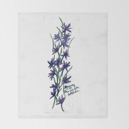 PurpleFlowers Throw Blanket