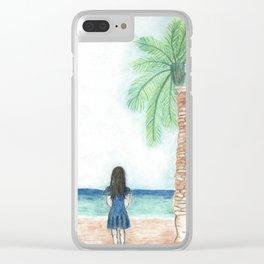 Seaside Escape Clear iPhone Case