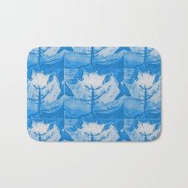 Slate Blue Maple Leaf Bath Mat
