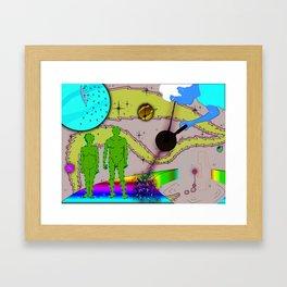 God and ants Framed Art Print