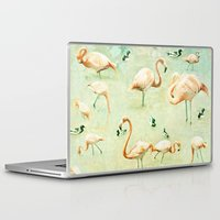 flamingos Laptop & iPad Skins featuring Flamingos by Lisa Argyropoulos